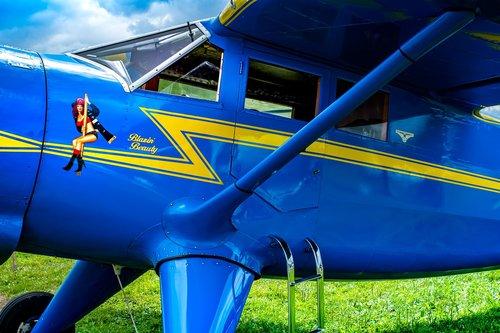 vintage  high wing  airplane