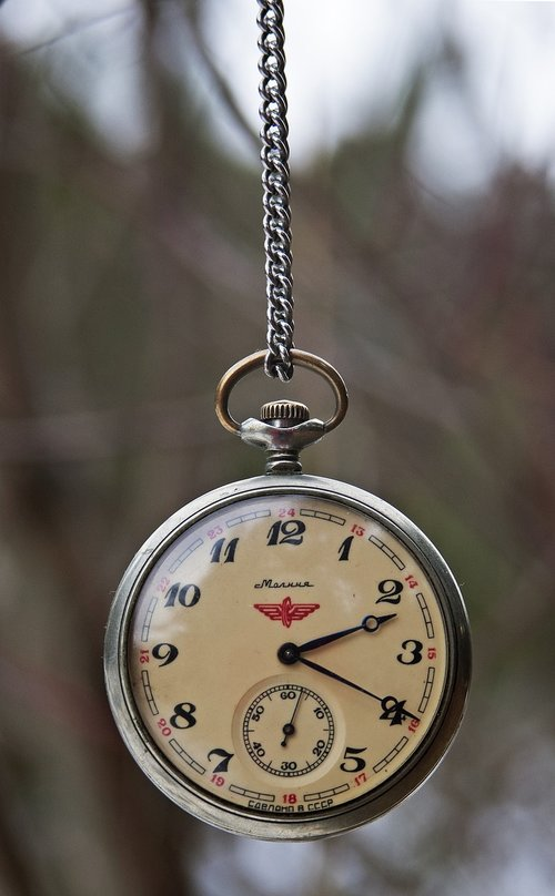 vintage  pocket watch  russian