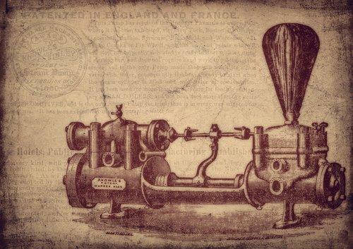 vintage  water pump  machine