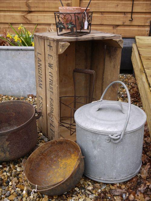vintage zinc container