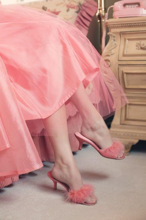 vintage slippers elegance