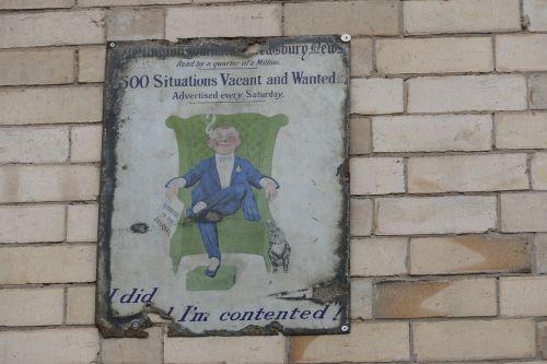 vintage sign retro