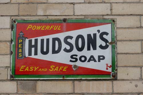 vintage soap sign