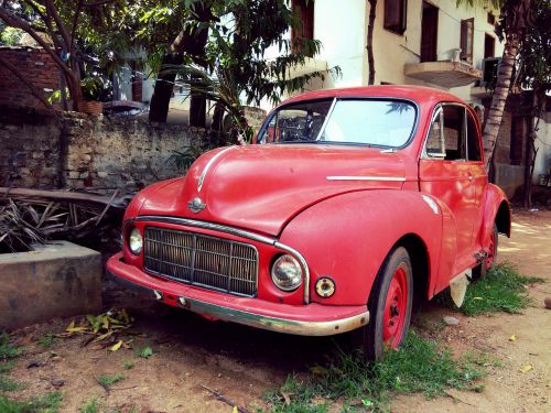 vintage wrecked red