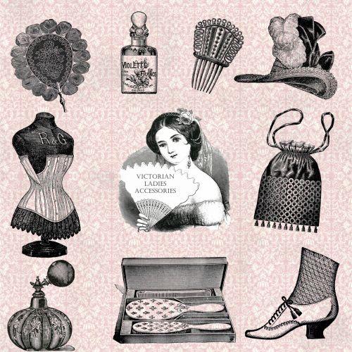 Vintage Accessories Illustration