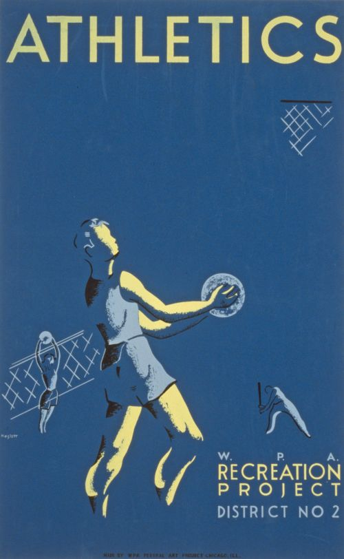 Vintage Athletics Recreation Poster