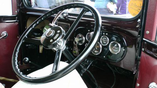 Vintage Austin Car Steering Wheel
