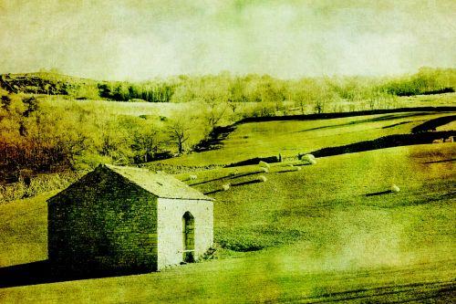 Vintage Barn In Landscape