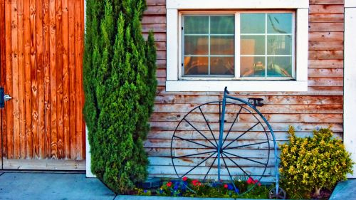 Vintage Bicycle Big Wheel