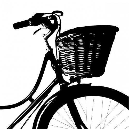Vintage Bicycle Black Silhouette