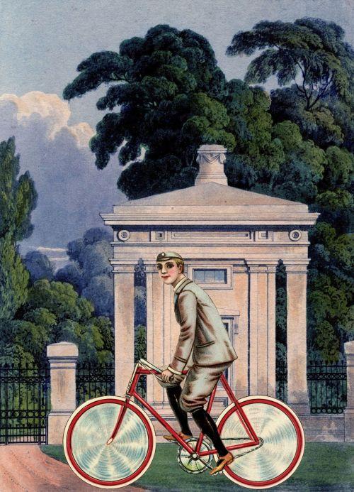 Vintage Boy Cycling