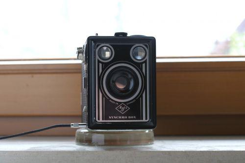 vintage camera agfa synchro box daylight