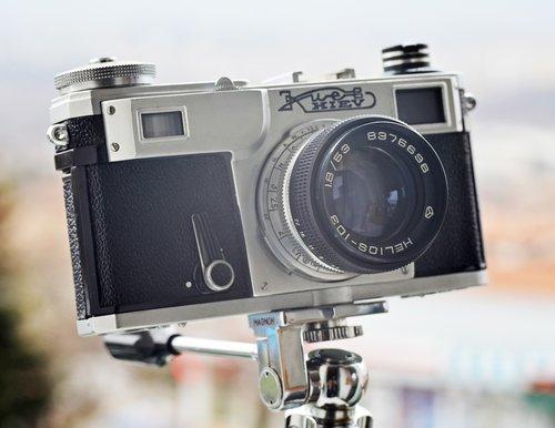 vintage camera  russian  retro