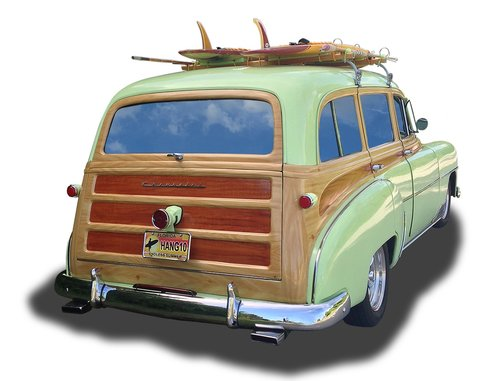 vintage car  fifties  retro