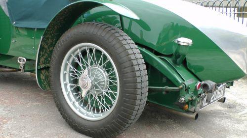 Vintage Car Spoked Wheels