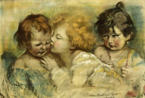 Vintage Children Drawing