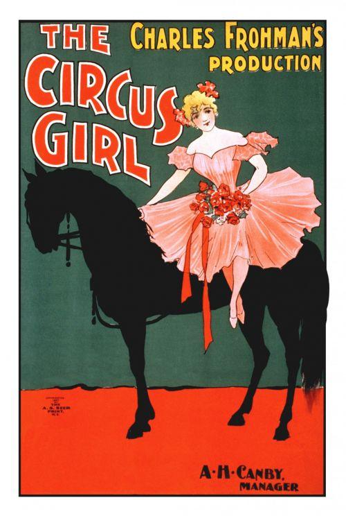 Vintage Circus Girl Poster