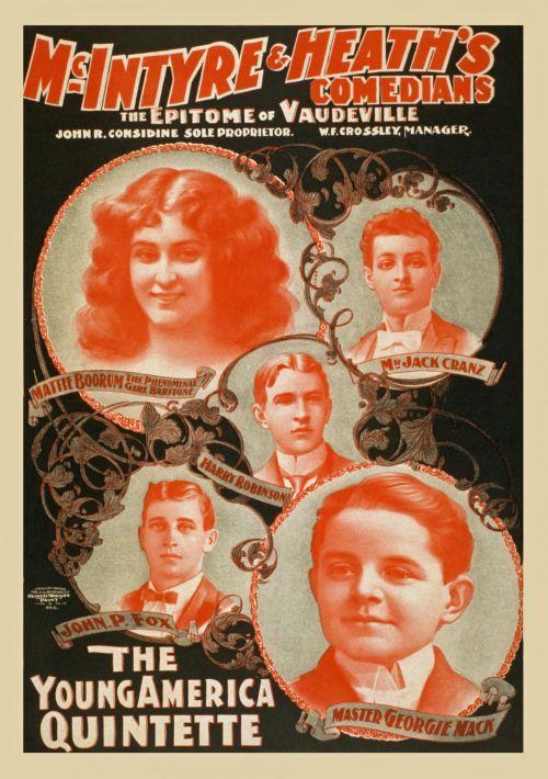Vintage Comedians Poster