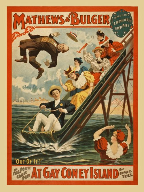 Vintage Coney Island Poster