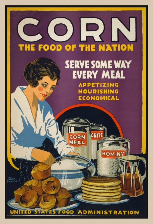 Vintage Corn Poster