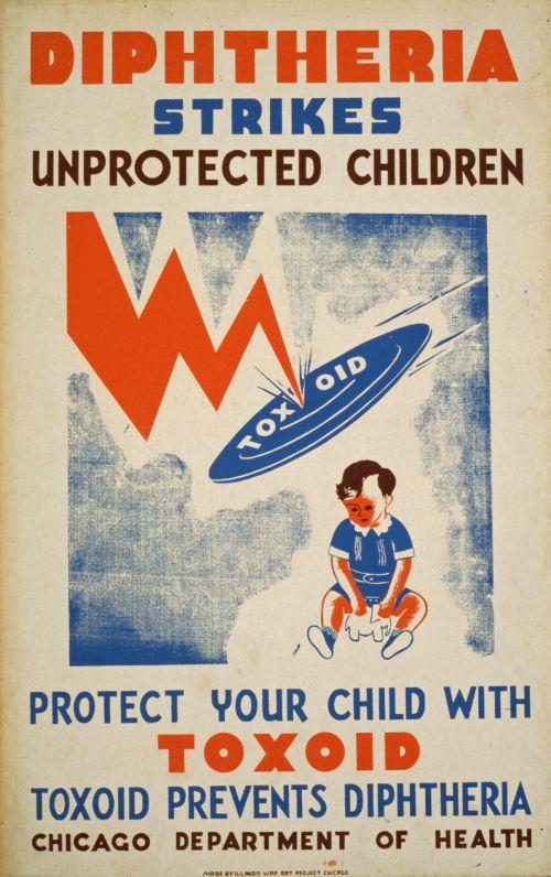Iliustracijos, clip & nbsp, menas, iliustracija, grafika, menas, vintage, plakatas, vintage & nbsp, plakatas, sveikata, vaikas, vaikai, vaikų sveikata, sveikata & nbsp, įspėjimas, medicinos, liga, difterija, gydymas, sveikata & nbsp, priežiūra, derliaus difterijos plakatas