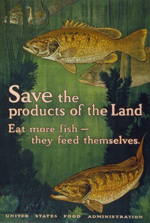 Vintage Eat Fish Poster