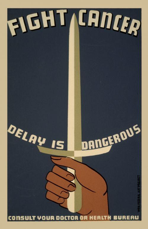 Vintage Fight Cancer Poster
