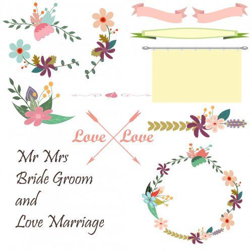 Vintage Floral Wedding Elements
