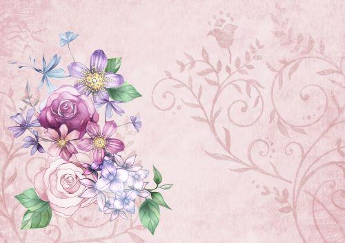 Vintage Flower Background Paper
