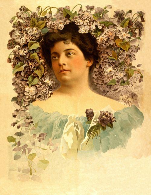 Vintage Flower Woman