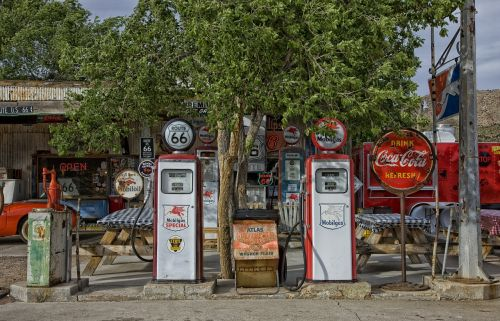 vintage gas station gas pumps gas