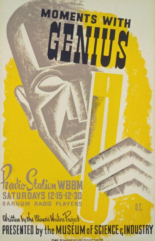 Vintage Genius Poster