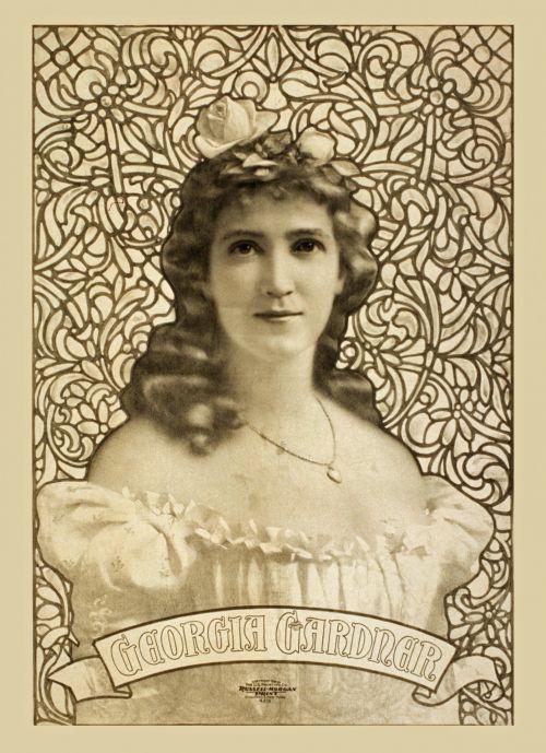Vintage Georgia Gardner Poster