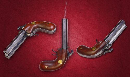 vintage gun double-barreled gun weapons