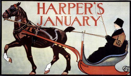 Vintage Harpers Magazine Cover
