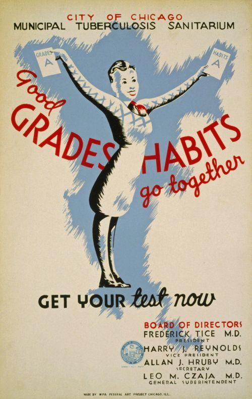 Vintage Health Test Poster
