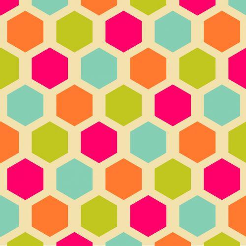 Vintage Hexagon Pattern Background