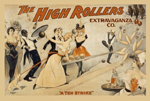 Vintage High Rollers Poster