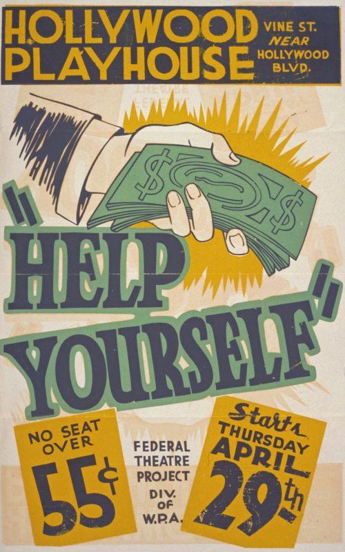 Vintage Hollywood Playhouse Poster