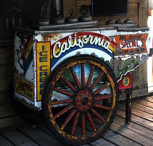 Vintage Ice Creme Cart