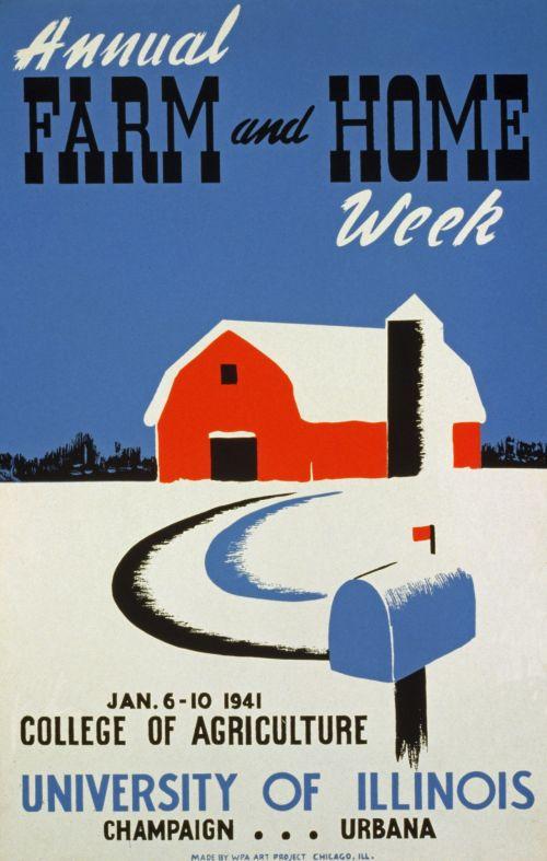 Vintage Illinois University Poster
