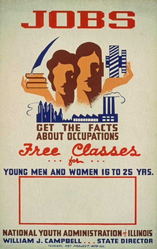 Vintage Job Classes Poster