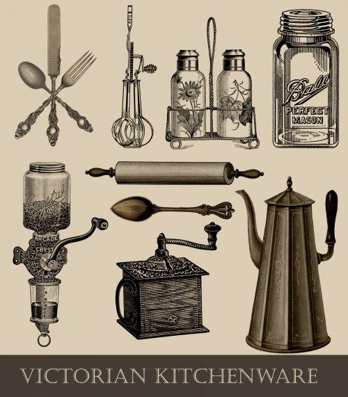 Vintage Kitchen Utensils Victorian