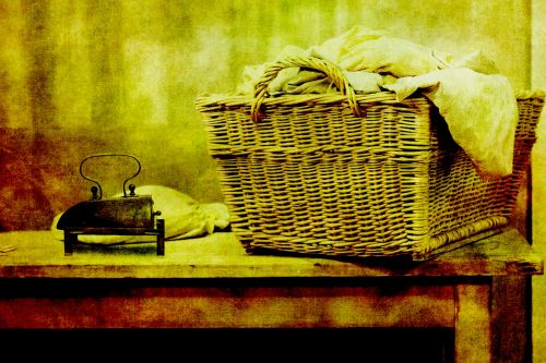 Vintage Laundry Background