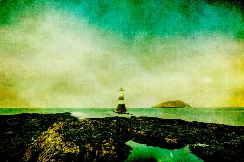 Vintage Lighthouse Painting