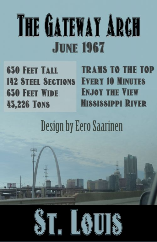 Vintage Look Gateway Arch Poster