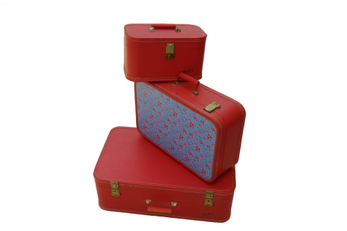 vintage luggage retro luggage red luggage