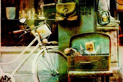 Vintage Luggage Bike Background