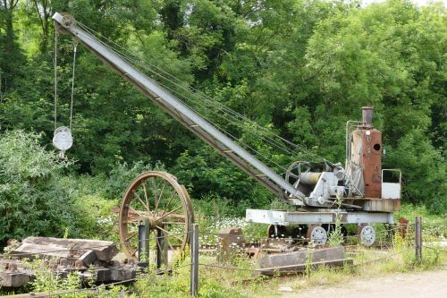 vintage machinery crane machinery