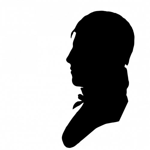 Vintage Male Profile Silhouette